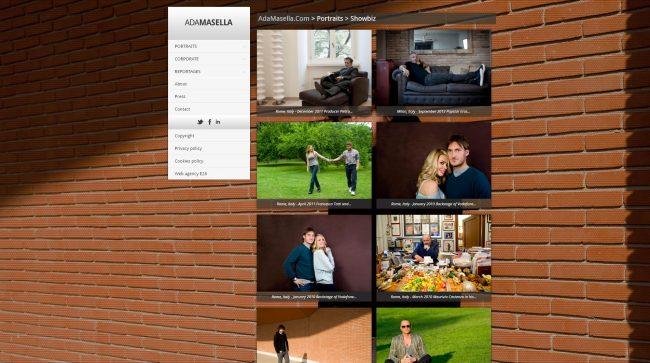 Sito web portfolio fotografo