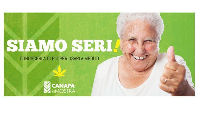 Manifesto 6x3 della fiera Canapa in mostra
