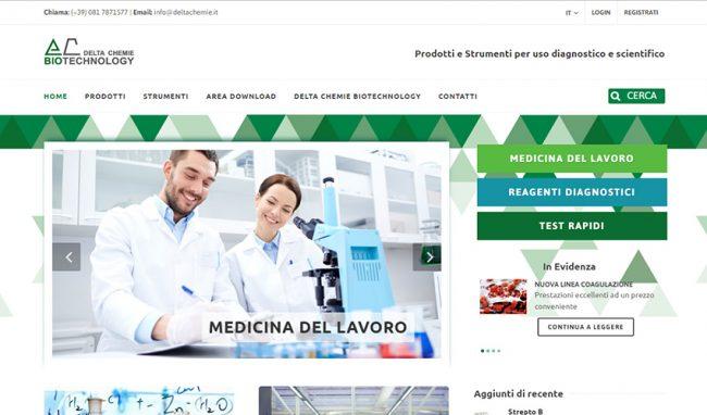 Sito web azienda prodotti chimici