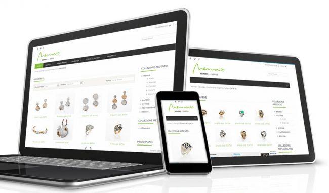 Sito web responsive per smartphone