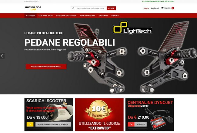 Sito web shopping online