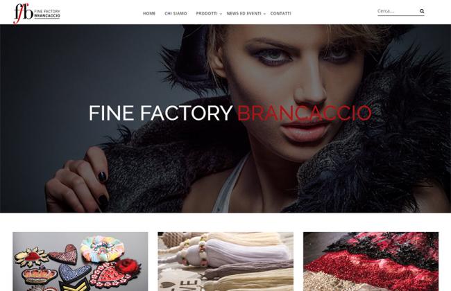 Screenshot homepage del sito