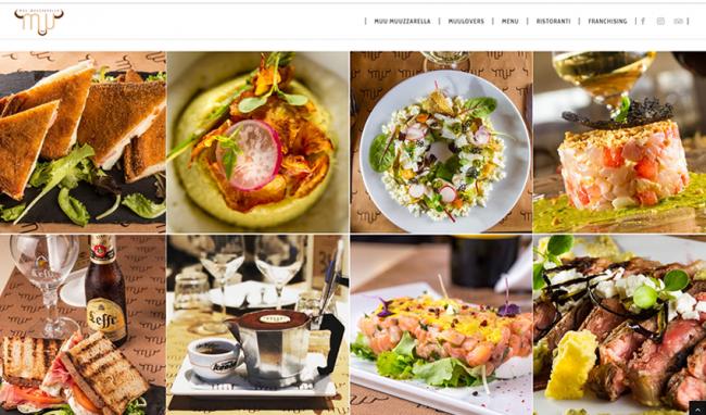 Sito web del ristorante di Napoli