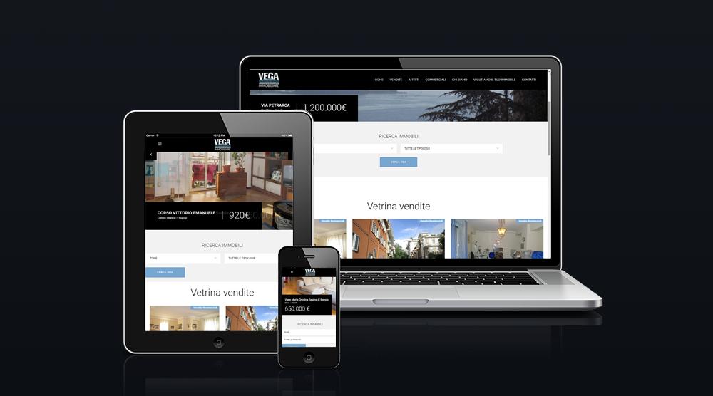 Screenshot della homepage del sito