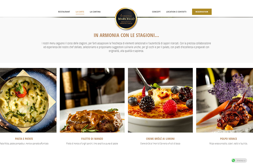 homepage del sito internet